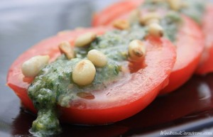 Fresh pesto tomato salad